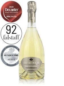 Bottle of Italian sparkling Prosecco wine Ca' Di Rajo Cuveé del Fondatore Millesimato Brut, Valdobbiadene Prosecco Superiore DOCG