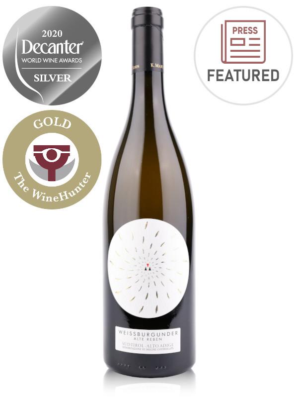 Bottle of Italian white wine K.Martini & Sohn Alte Reben Weissburgunder Alto Adige DOC 2017