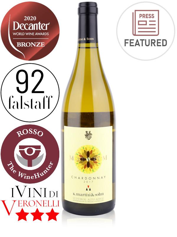 Bottle of Italian white wine K.Martini & Sohn, Maturum Chardonnay 2017