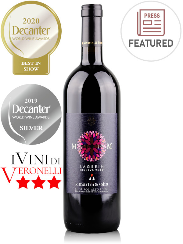 Bottle of Italian red wine Maturum Lagrein Riserva 2018 Alto Adige DOC