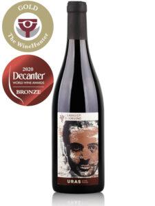 Bottle of Italian red wine Uras I Garagisti di Sorgono 2017