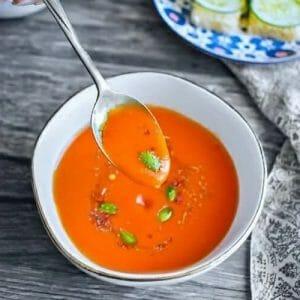 Red pepper soup - Molly Kumar