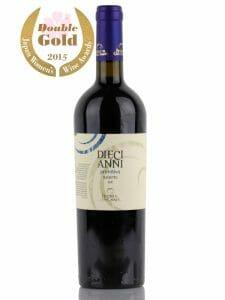 Diecianni Primitivo red wine, Sakura Double Gold Award
