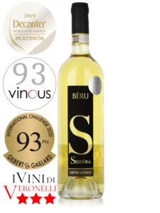 Bottle of Italian white wine Siddùra Beru Vermentino di Gallura Superiore DOCG