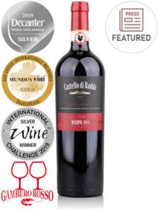 Bottle of Italian red wine Castello di Radda Riserva 2014 Chianti Classico DOCG