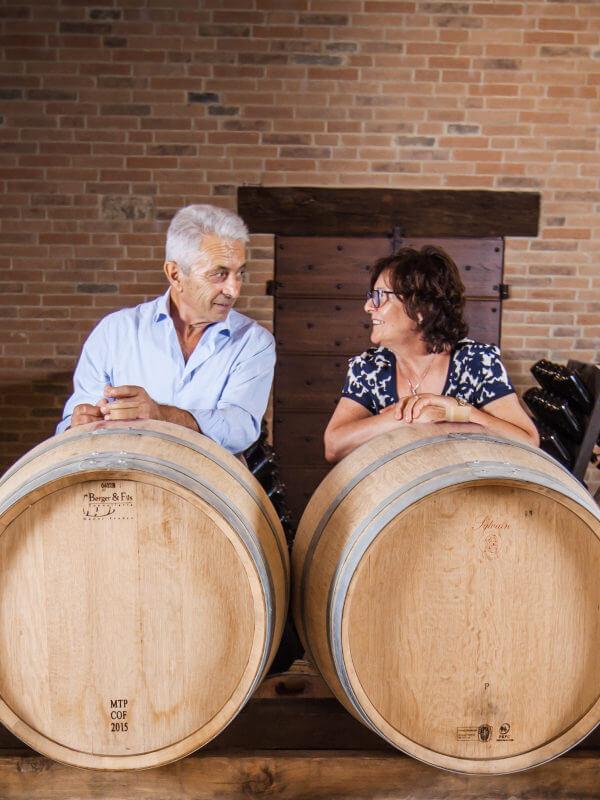 Scagliola family in the winery in Monferrato, Piedmont, Italy