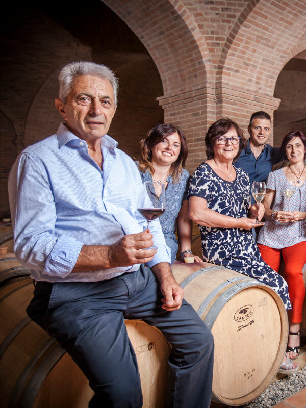 Scagliola family in their winery in Monferrato, Piedmont, Italy