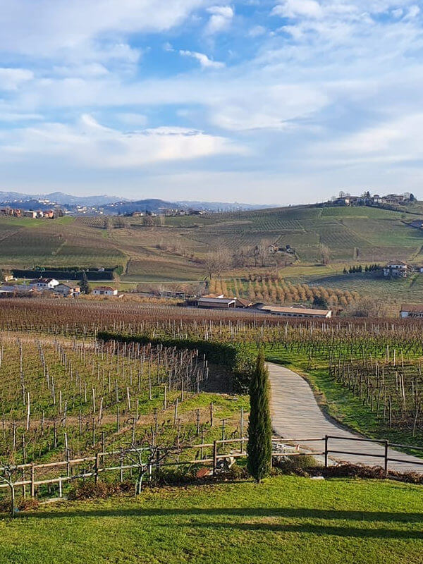 View from the hill Sansi, where Scagliola winery is located in Monferrato, Piedmont, Italy