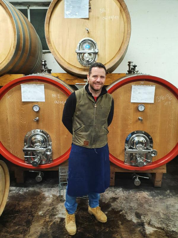 Lukas, winemaker in the cellar at K.Martini & Sohn