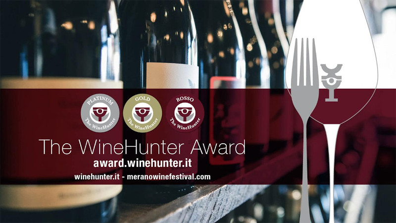 Introduction of The WineHunter Award (Merano wine festival) and medals