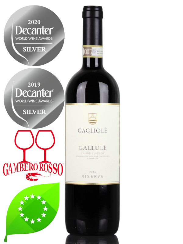 Bottle of Organic Red Wine Gagliole - Gallule Chianti Classic DOCG Riserva 2016