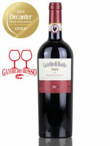 Bottle of red wine Castello di Radda Chainti Classico DOCG 2017