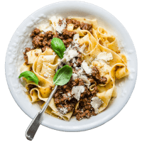Beef Bolognese Sauce with Pappardelle Pasta
