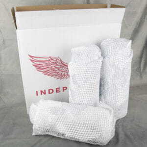 Packaging of Independent Wine - opened delivery box with bottles wrapped in packaging paper