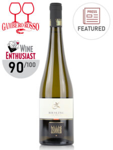 A bottle of white wine Peter Zemmer Riesling 2019, Alto Adige DOC, Italy