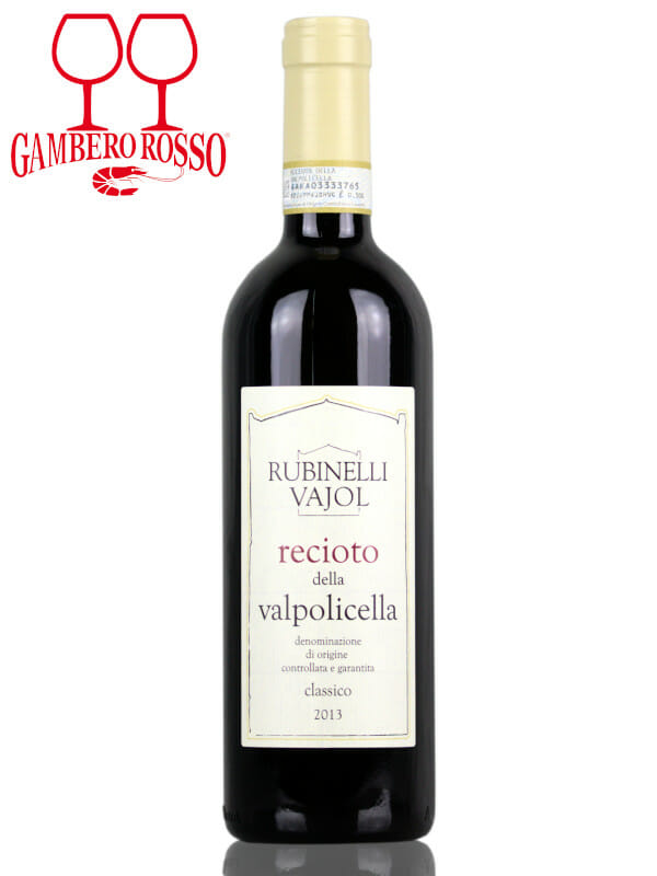 Bottle of red wine Rubinelli Vajol Recioto della Valpolicella DOCG 2013