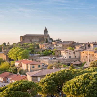 The ancient city of Montalcino