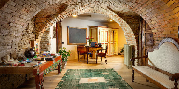 View inside Hotel Borgese, Neive, Piedmont