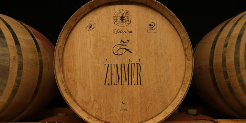 Oak barrels in Peter Zemmer's ageing cellar, Alto Adige