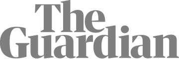 Logo of The Guardian newspaper in grey colour