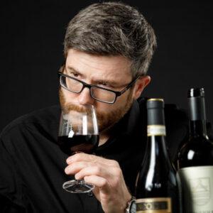 Oleg Dmitriev, Wine Portfolio Director of Independent Wine - doing wine tasting of Francone Barolo and Gagliole Chianti Classico