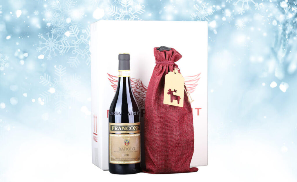 Wine bottle in beautiful gift wrapping by Independent Wine