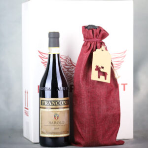 Wine bottle gift wrapped by Independent wine