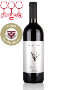 Bottle of Italian red wine - Carvinea Primitivo 2017 Salento IGP