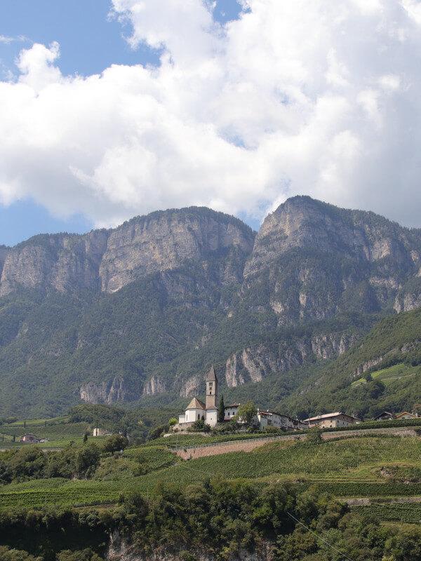 Church in Kurtatsch village, Alto Adige DOC, Italy