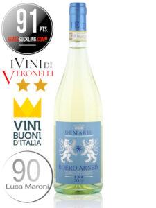 Bottle of Italian white wine Demarie Roero Arneis DOCG 2019