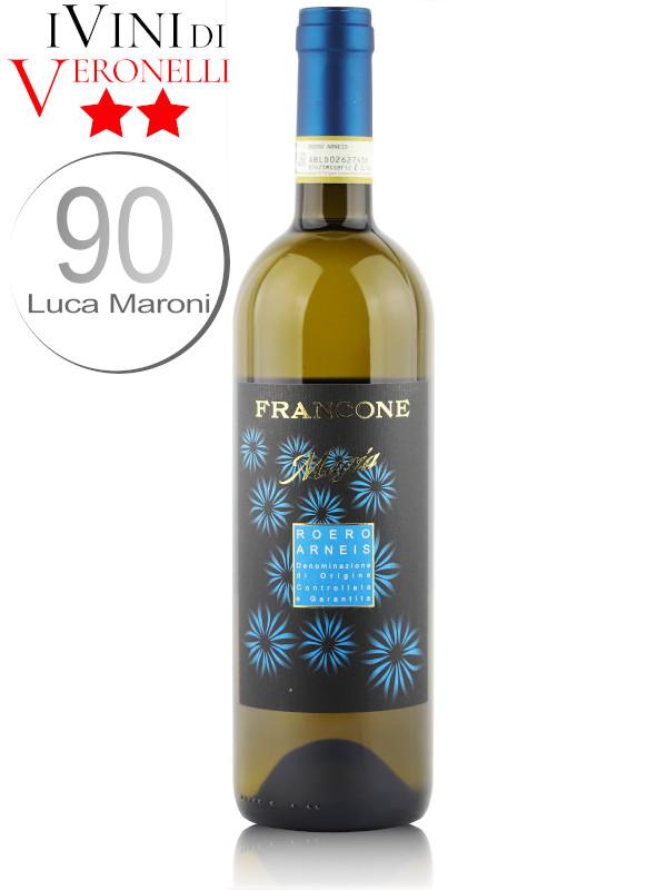 Bottle of Italian white wine Francone Magia 2019 Roero Arneis DOCG