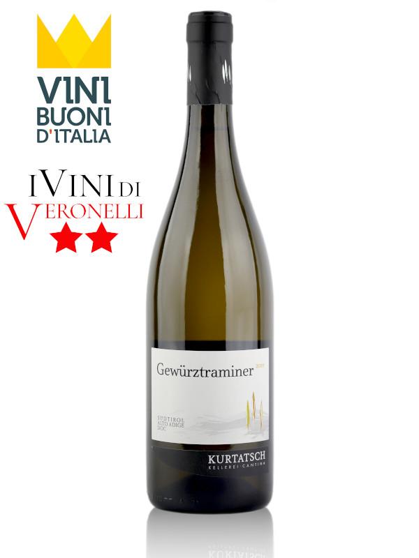 Bottle of white wine Kurtatsch Gewurztraminer 2019 Alto Adige DOC
