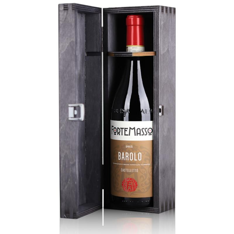 ForteMasso Barolo Castelletto Cru 2015, Barolo DOCG, in black wooden gift box