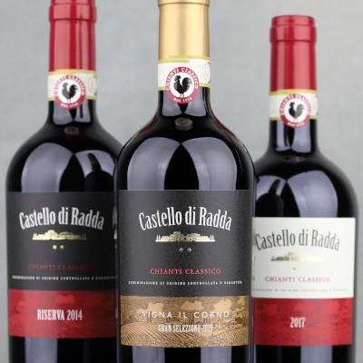 Castello di Radda wines - Chianti Classico DOCG Rosso, Riserva, Gran Selezione