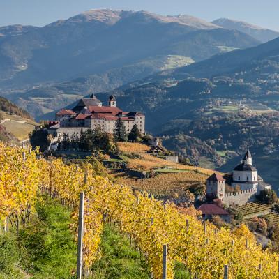 Castle in the Alps in Alto Adige DOC, Italy