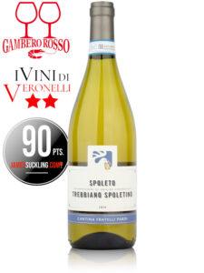 Bottle of Italian white wine from Umbria - Fratelli Pardi Spoleto Trebbiano Spoletino DOC 2020