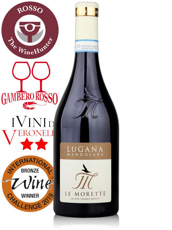 Bottle of Italian white wine Le Morette Mandolara 2020 Lugana DOC