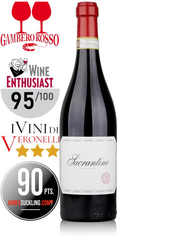 Italian red wine Sacrantino Montefalco Sagrantino 2016 DOCG