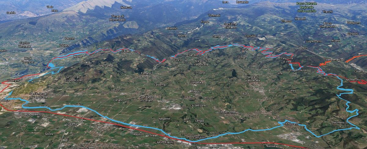 3D view of the Valpolicella Classico zone