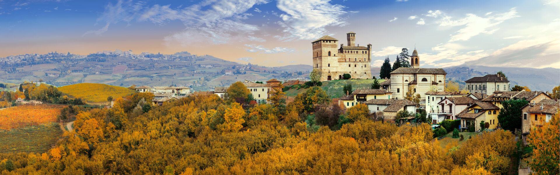 Castle Grinzane Cavour, Barolo DOCG wine region, Piemonte, Italy