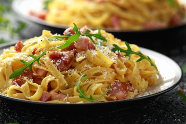 Italian recipe Pasta Carbonara
