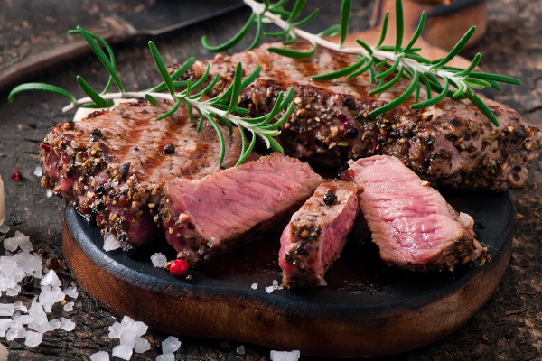 Salt and pepper grilled steak